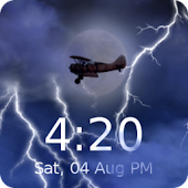 Lightning Live Wallpaper Clock