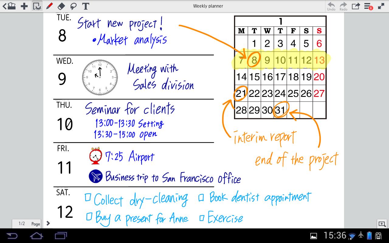 MetaMoJi Note Lite - screenshot