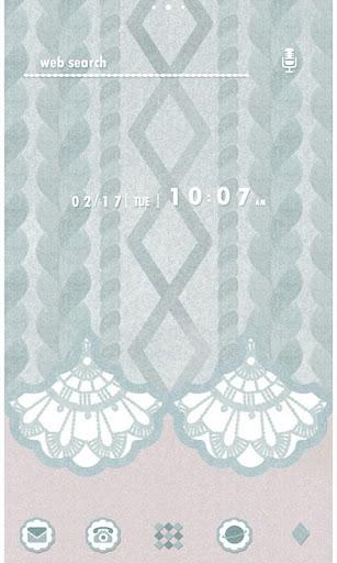 かわいい壁紙・アイコン-Knit Mint-無料きせかえ