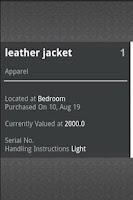 Screenshot of Playcolors Home Inventory Pro