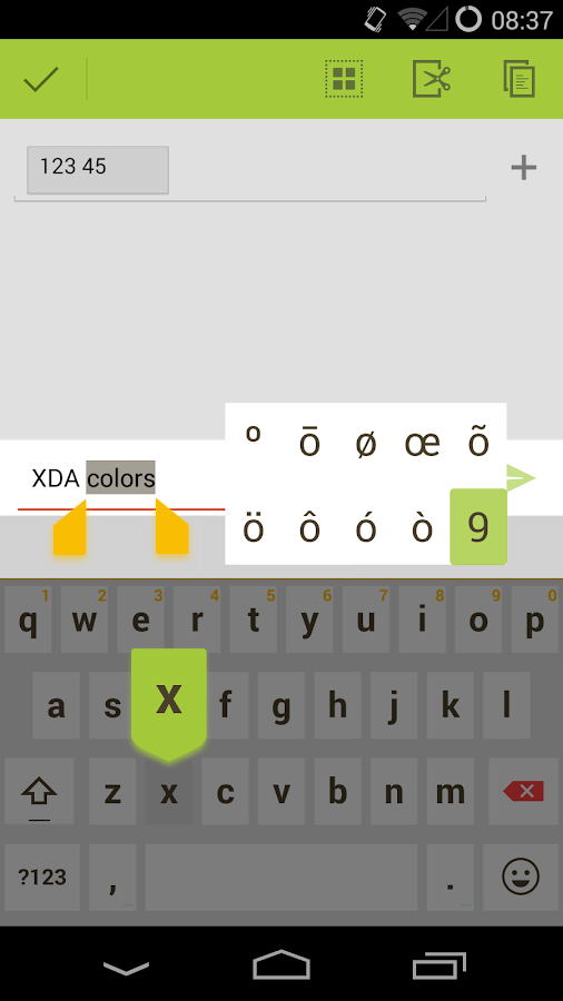 ChocoUI (XDA colors) - screenshot