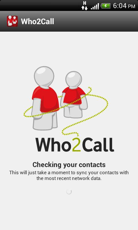 Who2Call™ - screenshot