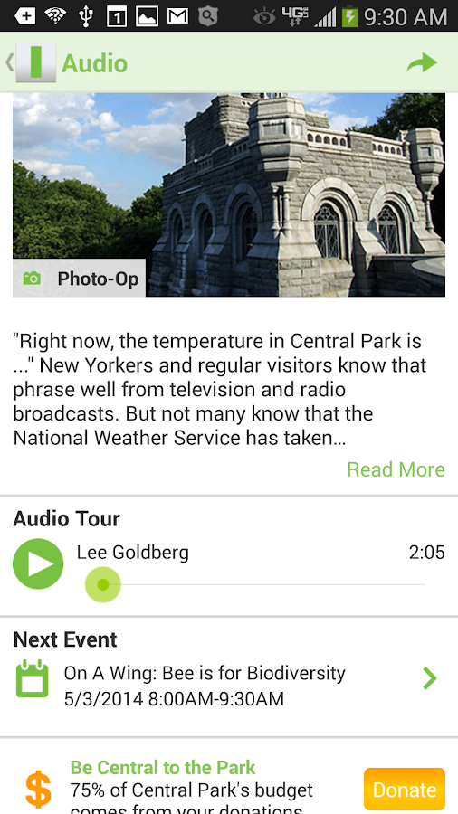 CENTRAL PARK CONSERVANCY - screenshot