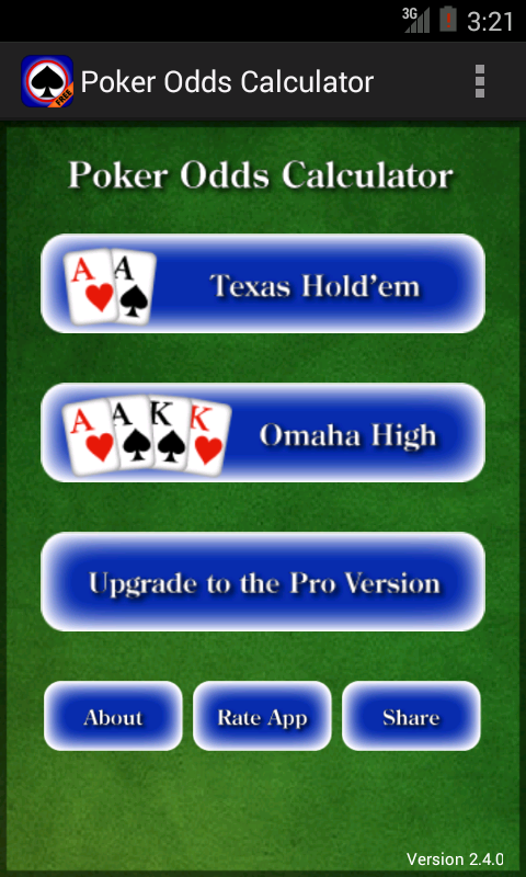 Poker Odds Calculator- screenshot