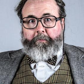 The Questionable Professor by Christopher Mazzoli - People Portraits of Men ( bowtie, glasses, beard, man, portrait,  )