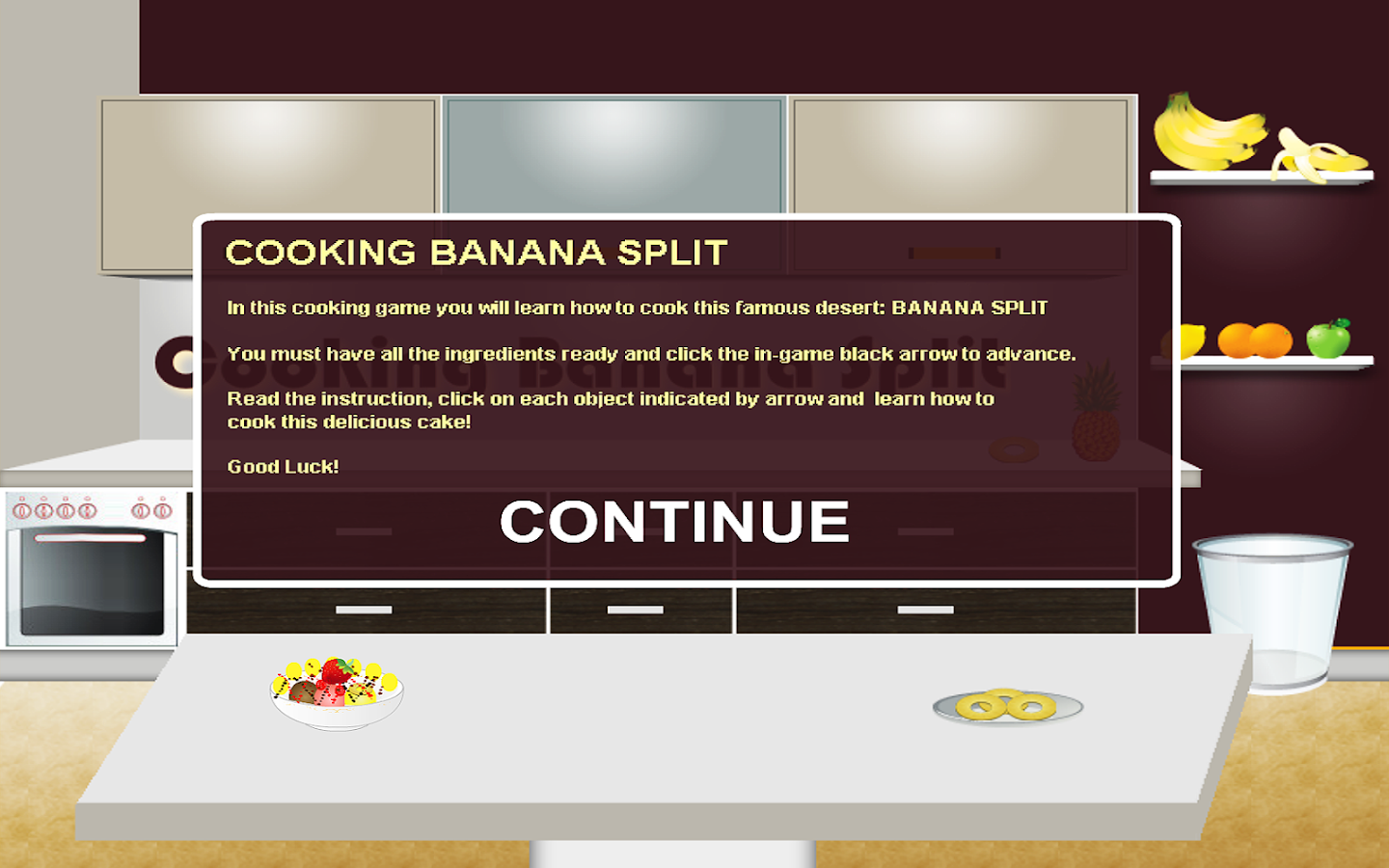 Banana Split Cooking Games- screenshot