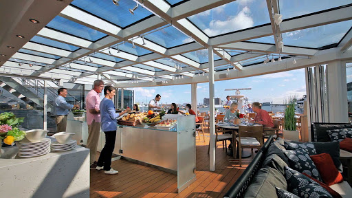 Viking-River-Cruises-Longships-Aquavit-Terrace-inside - Enjoy casual dining in Aquavit Terrace while taking in the majestic scenery of Europe as you sail aboard your Viking Longship.