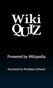Wiki Quiz - screenshot thumbnail