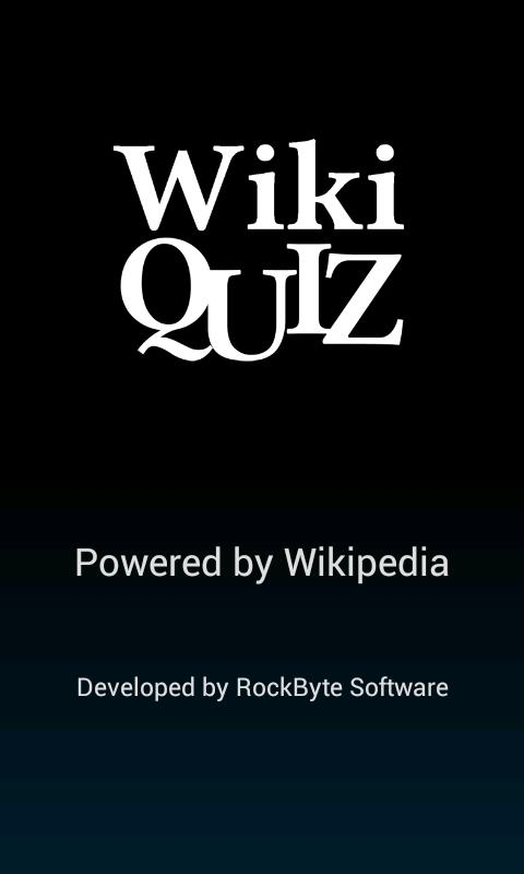 Wiki Quiz - screenshot