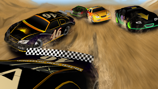 자동차 경주의 3D