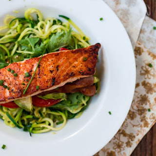 Salmon & Avocado BLT Zoodles