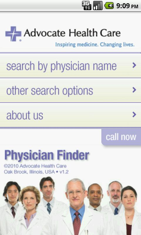 Advocate Physician Finder- screenshot