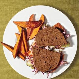 Turkey Cutlet Sandwiches With Oven Fries.
