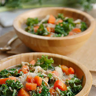 Paleo Crock Pot Chicken & Kale Soup.