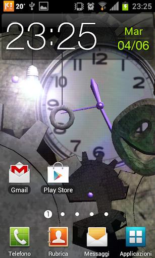 Clock Bulb 3D Live Wallpaper