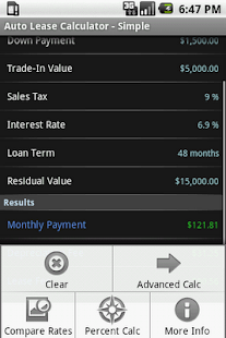 Car Lease Calculator- screenshot thumbnail