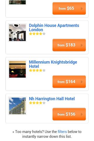 Hotel Finder - by Amazebuy - screenshot