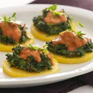 Creamed Spinach on Polenta Recipe
