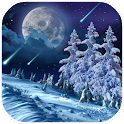 Winter night live wallpaper