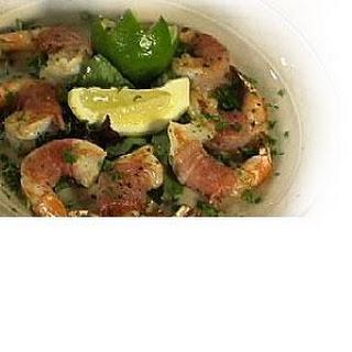 Shrimp Wrapped In Parma Prosciutto