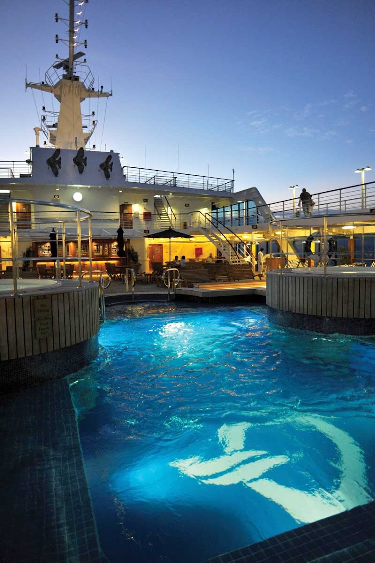 You'll love a refreshing dip on a warm evening in Oceania Nautica's pool.