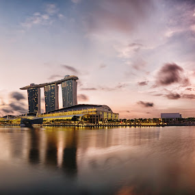 Marina Bay Sands by Flo Yeow - Buildings & Architecture Office Buildings & Hotels ( flotographysg, marinabaysands, mbs, sunrise, singapore, city,  )
