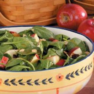 Apple Peanut Spinach Salad.