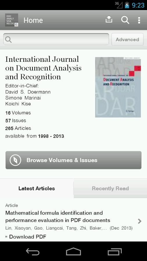 IJ Doc Analysis & Recognition - screenshot