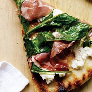 Coppa, Ricotta, and Arugula Pizza.