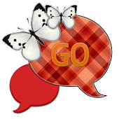 GO SMS THEME|RedOrangeSky