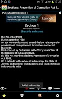 Screenshot of Prevention of Corruption Act