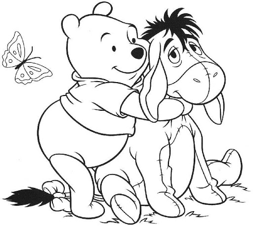 Pooh and Piglet Coloring Game