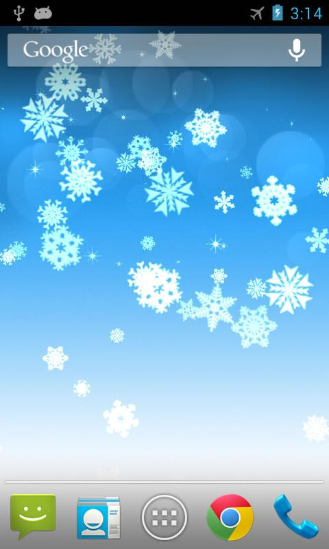 Snowflake Live Wallpaper - screenshot