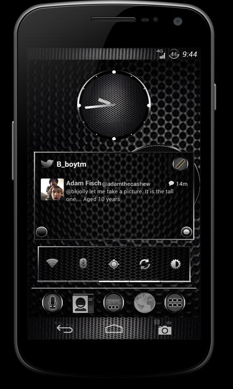 CM10 JB Theme: BLACK CARBON - screenshot
