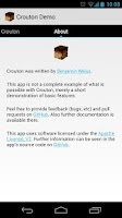 Screenshot of Crouton Demo Application