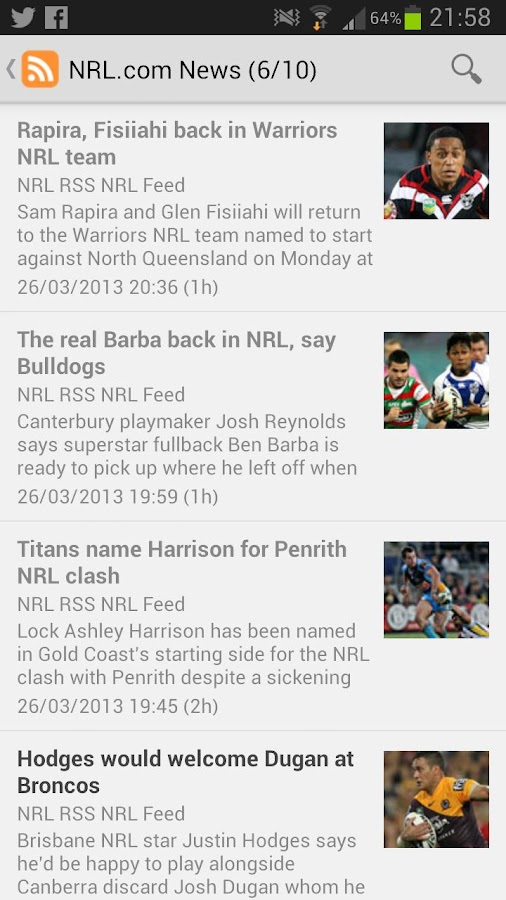 NRL News National Rugby League - screenshot