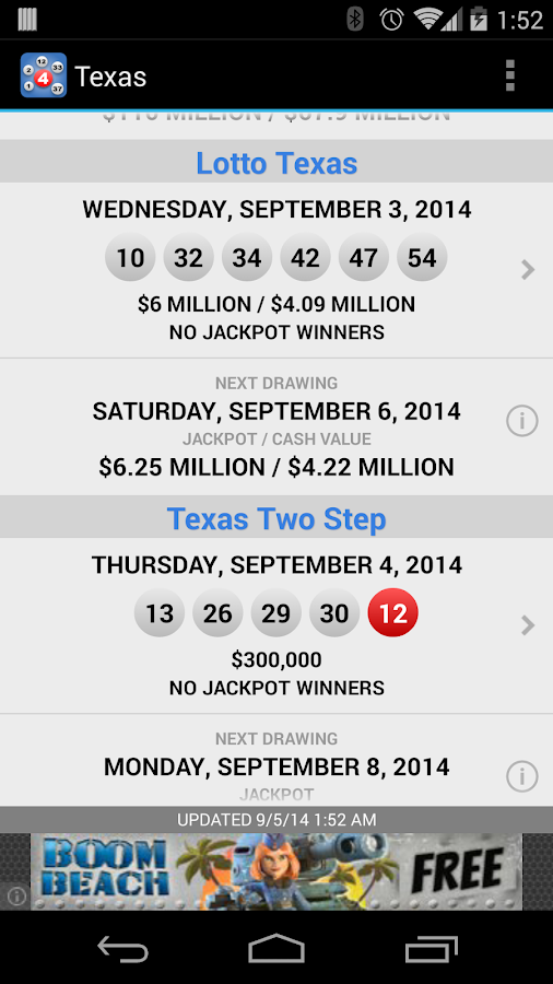 Lotto Results - Lottery Games - screenshot