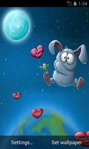 Live Wallpaper Rabbit Balloon