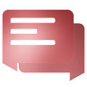 EvolveSMS Material Blur Red icon