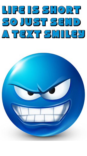Text Smileys ™ Blue