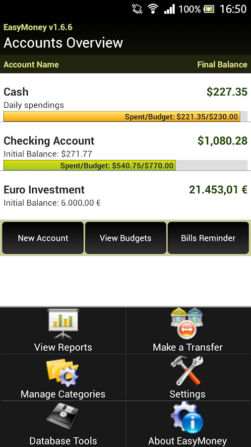 EasyMoney - Money Manager - screenshot