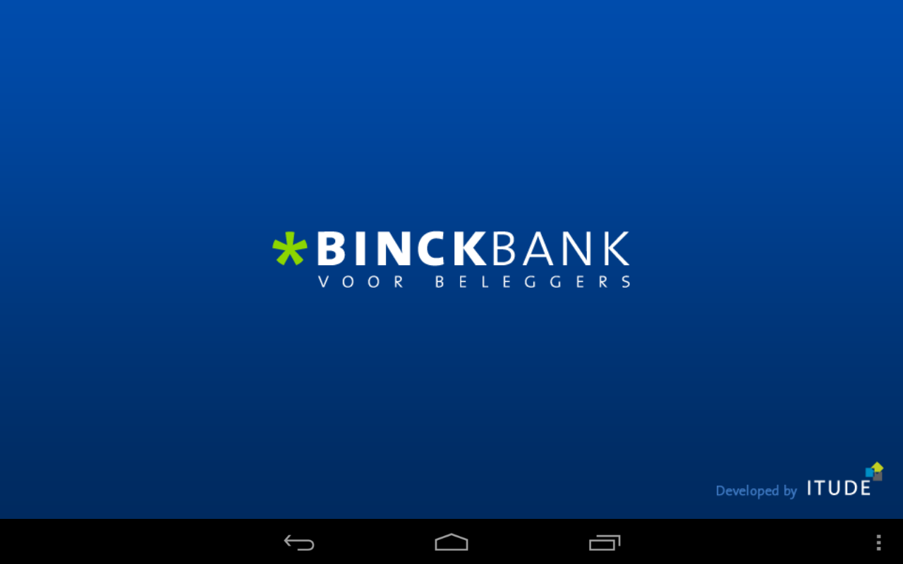 Binck beleggingsapplicatie - screenshot