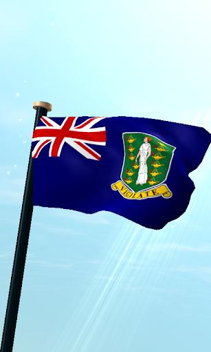 英屬維爾京群島旗3D免費動態桌布