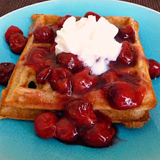 Cinnamon Belgian Waffles Adapted from Allrecipes.com.