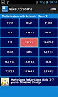 Screenshot of KS2 Maths Game