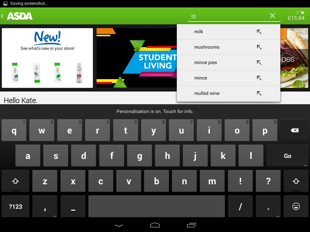 ASDA - screenshot
