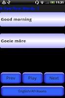 Screenshot of Pocket Polyglot Afrikaans