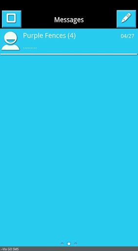 SkyBlue White Black Go SMS Pro