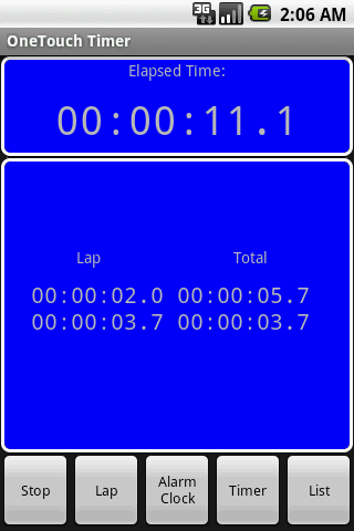 OneTouch Timer Full - screenshot