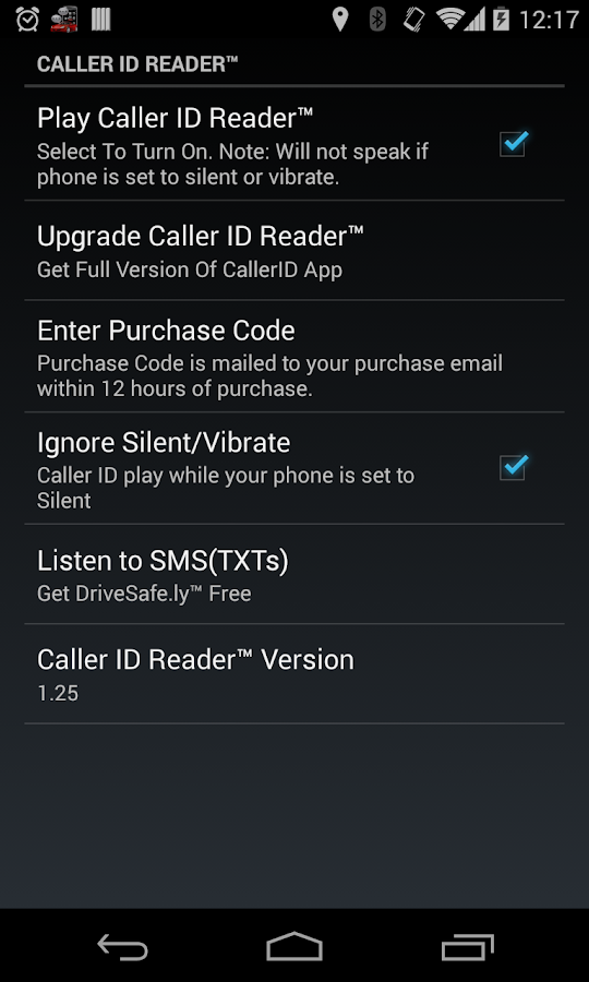 Caller ID Reader - Speak Calls - screenshot